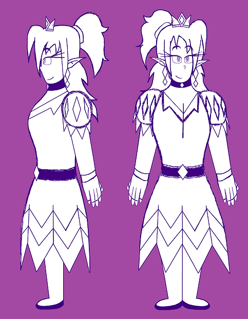 Princess Diamond Full Body Sketches.png