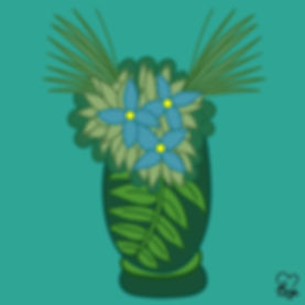 16. Light Blue Flowers in Green Vase.jpg