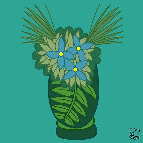 16. Light Blue Flowers in Green Vase.jpg