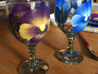I'm SO Happy About Hand Painted PANSIES! :)