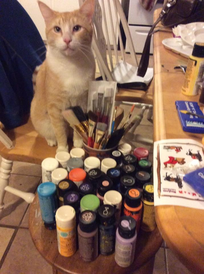 Cats Prefer Folkart Enamels
