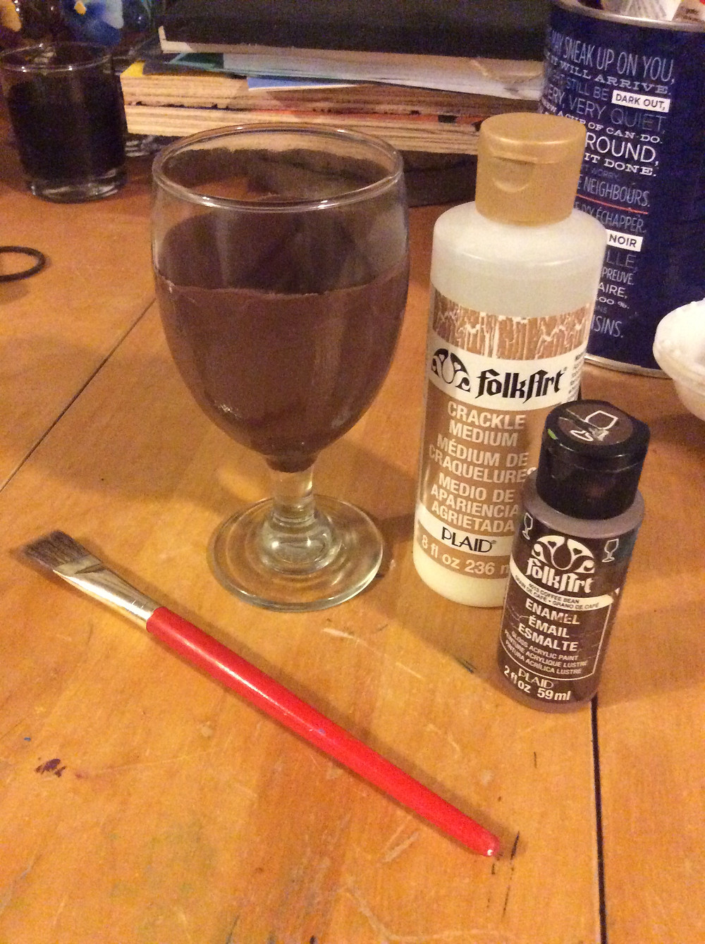 Preparing to Paint CRACKLE for the first time!