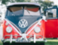 retro red and black fiona camper van wed