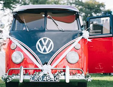 retro red and black fiona camper van wed