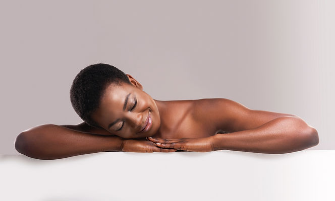 Spa and wellness concept. Beautiful afri