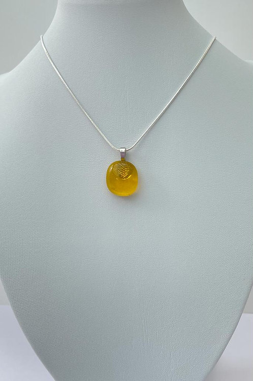 Yellow Glass Necklace - was £6