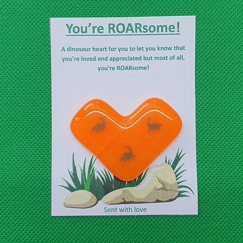 ROARsome Dinosaur Heart - Orange