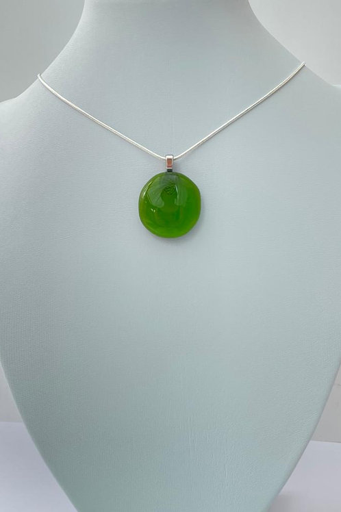Spring Green Glass Necklace - was £6.50