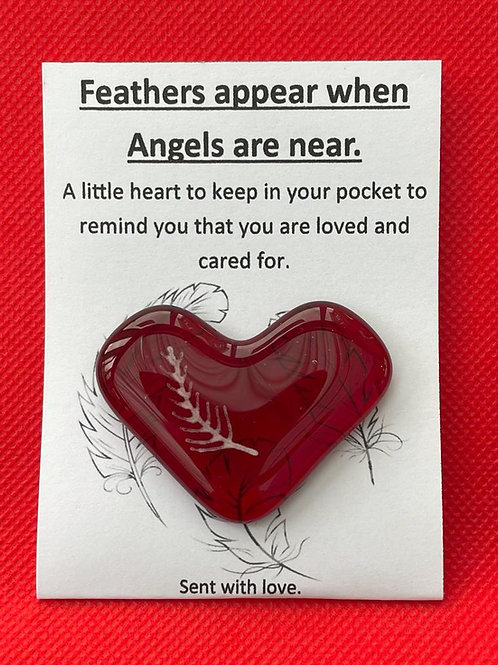 Feathers Appear when Angels are Near - Red