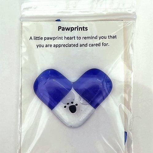 Blue Pawprint Heart