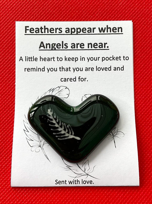 Feathers Appear when Angels are Near - Kelly Green