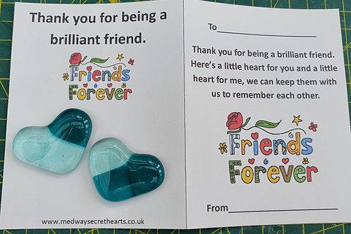 Friendship Hearts - Peacock