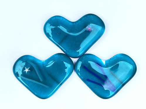 Peacock Blue Lucky Dip Heart