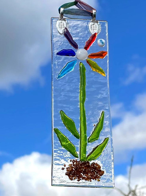 Rainbow Flower Suncatcher