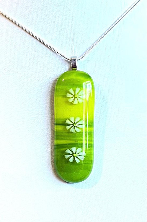 Daisies on Grass Necklace