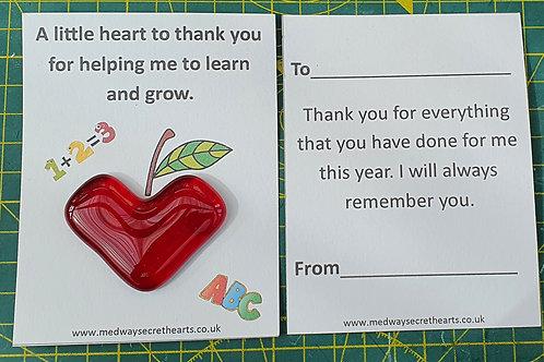 Teacher Heart - Apple