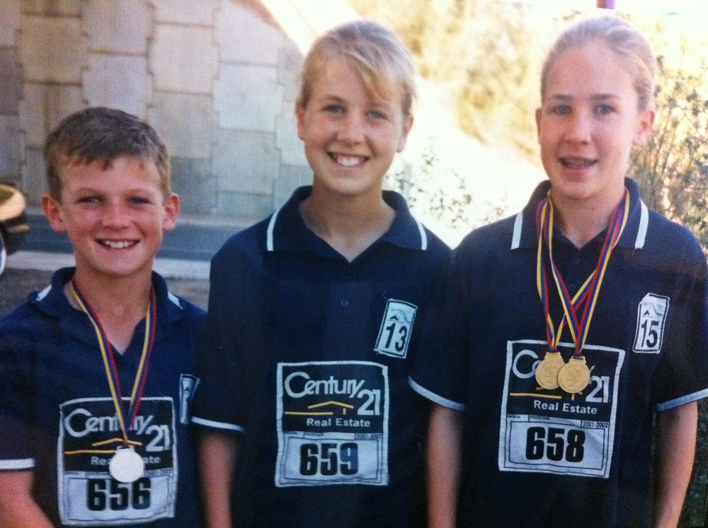 Abbie, Jack and I representing Naracoorte Little Athletics Club