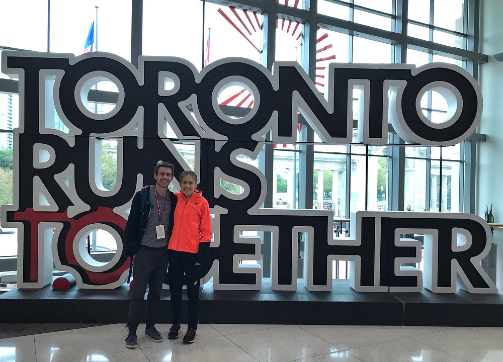 Before the Toronto Marathon with Dylan