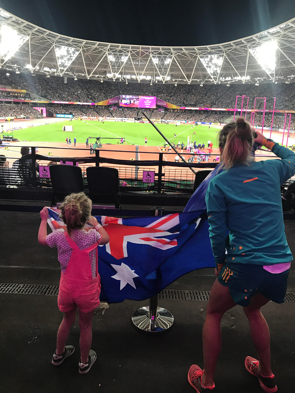 Watching Sally Pearson win gold at the London 2017 World Champs with Indi Wellings