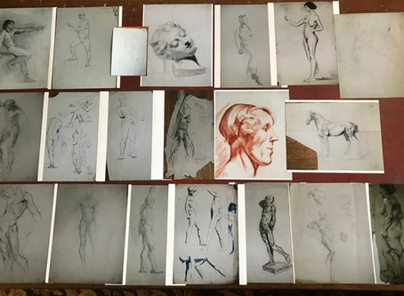 Early LS Lowry drawings from Bentley's in the ATG