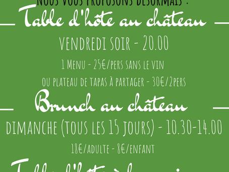 Table d'hôte et brunch