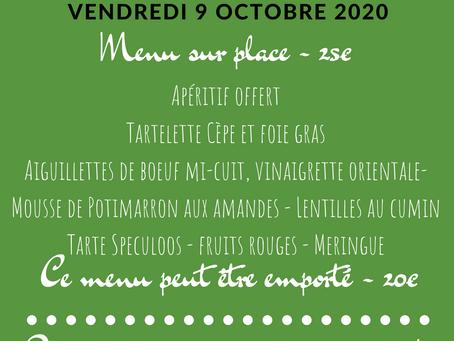 Table du château - Vendredi 9 octobre