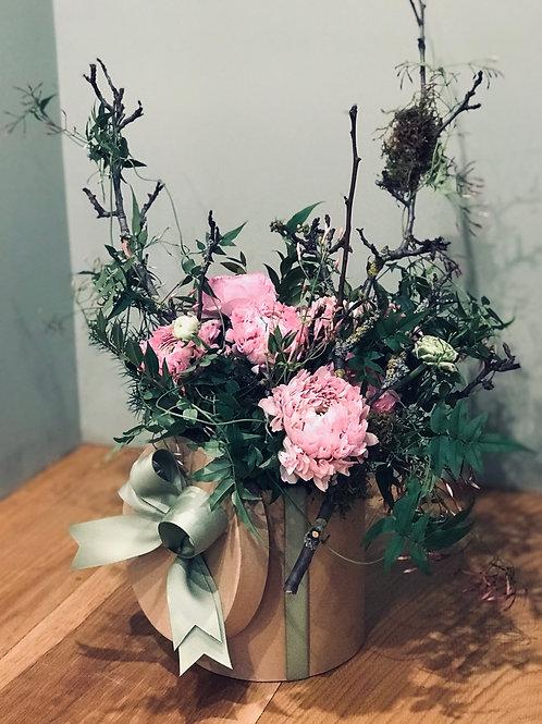 """Bouquet """"Boite à chapeau"""""""