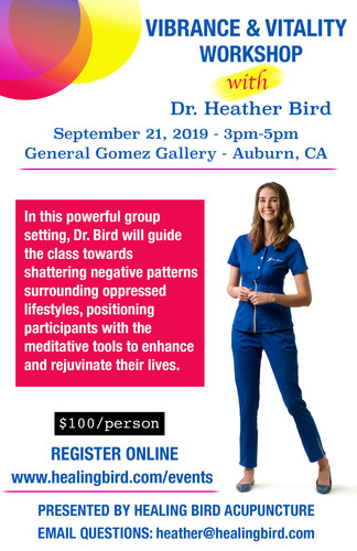 Vibrance and Vitality Workshop with Dr. Heather Bird