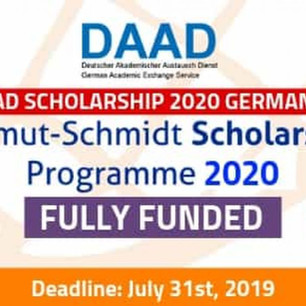 Fully Funded DAAD Helmut Schmidt Scholarship 2021 in Germany
