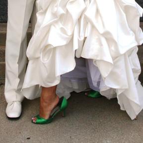 Peacock Bride Groom Shoes