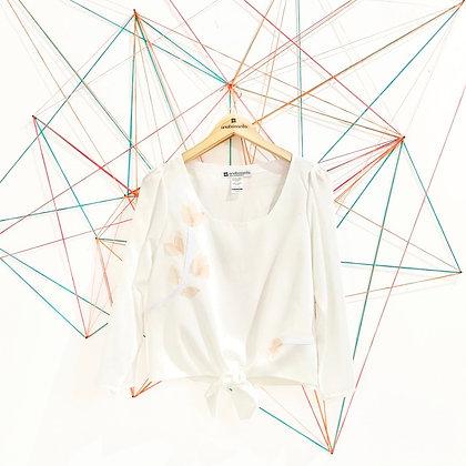 Blusa Aplicaciones textiles