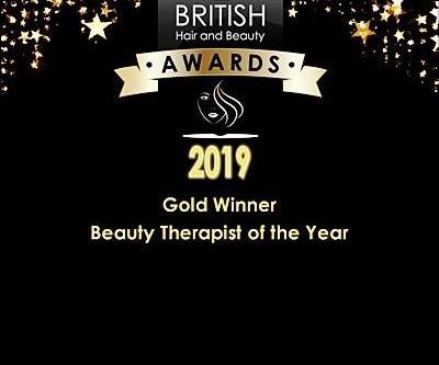 Beauty Therapist of the Year  Gold Award Winner