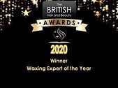 British Hair & Beauty Awards Waxing Expert of the Year Winner; Awards; Winner; Worcester Park; Surrey; Amor Beauty; Waxing; 2020;
