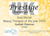 Beauty Awards Gold Winner 2020