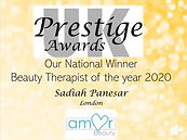 Beauty Awards National Winner 2020
