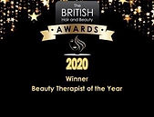 British Hair & Beauty Awards Beauty Therapist of the Year Winner; Awards; Winner; Worcester Park; Surrey; Amor Beauty; Waxing; 2020;