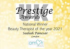 Beauty Therapist of the Year National Winner 2021