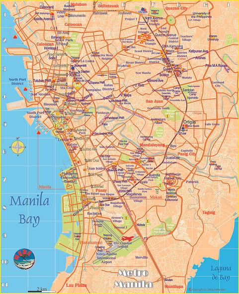 Map of Metro Manila