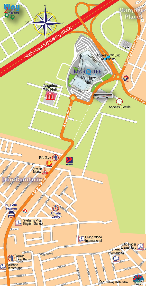 Map of Marquee Mall 2020, Angeles City, Philippines