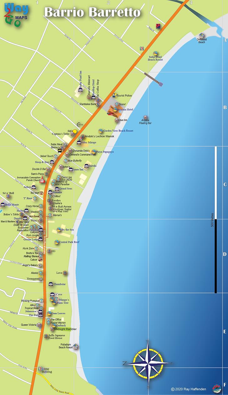 Barrio Barretto Map 2020, Olongapo, Subic Bay, Zambales, Philipppine