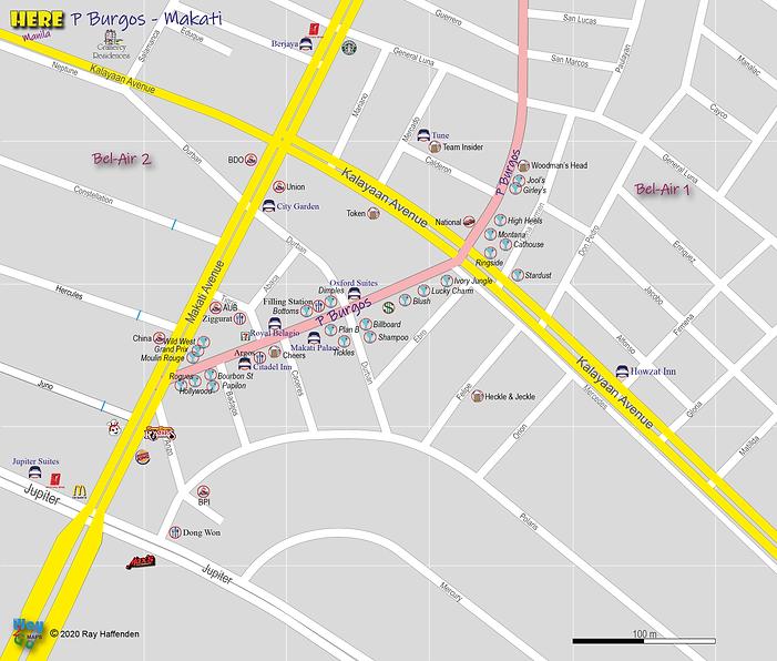 Here Manila - P Burgos, Makati Map 2020.