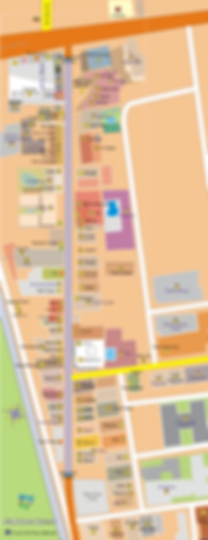 Map of Walking Street, Fields Avenue 2018, Balibago, Angeles City, Pampanga, Philippines