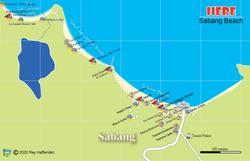 Map of Sabang Beach 2020