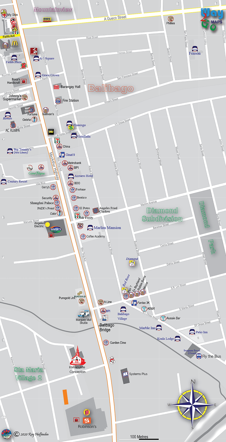 Map of Diamond Subdivision 2020, Angeles City, Pampanga, Philippines