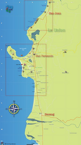 Map ofBauang to San Juan 2018