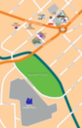 Ulo ng Apo rotunda, Bus Terminals & SM Central Map