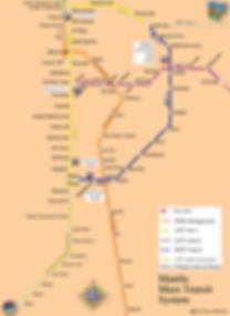 Manila Mass Transit Map, Metro Manila, Philippies
