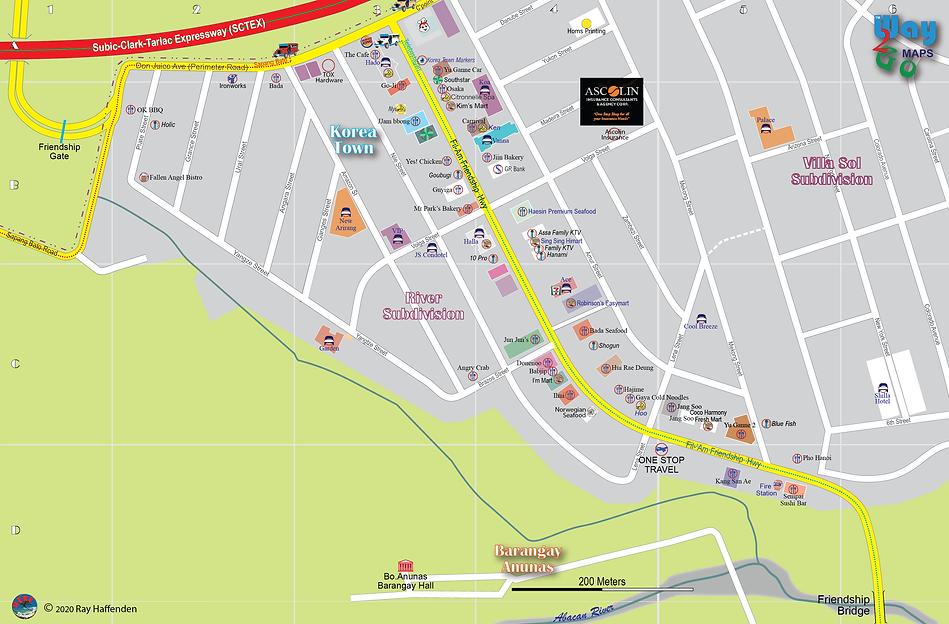 "Map of Friendship - ""Korea Town""2020, Angeles City, Pampanga, Philippines"