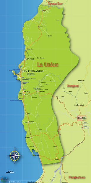 Map of La Union Province