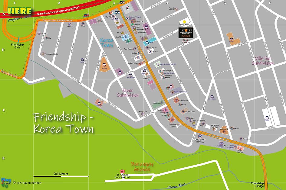Here-Angeles City Map of Friendship Kore
